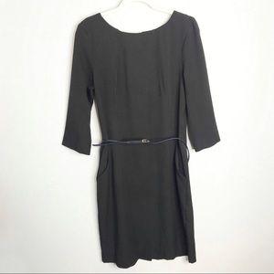 M.M. LAFLEUR Black Etsuko 3/4 Sleeve Dress
